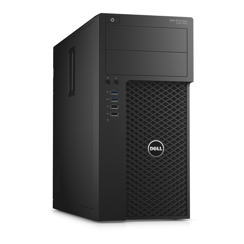 First slide photo of DELL Workstation PC Precision 3620 MT /E3-1220v6/16GB/256GB SSD + 1TB HDD/Quadro P600 2GB/DVD-RW/Win 10 Pro/5Y NBD