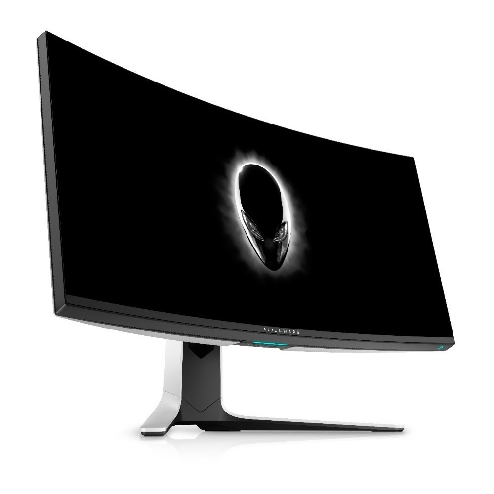 First slide photo of DELL MONITOR ALIENWARE CURVED AW3821DW 37.5'' WQHD+ Fast IPS, HDMI, DisplayPort, Height Adjustable, 3YearsW, NVIDIA G-Sync