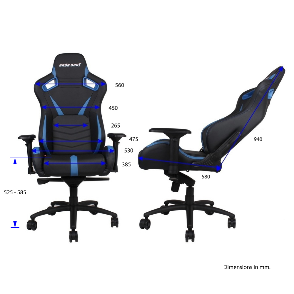 First slide photo of ANDA SEAT Gaming Chair AD12 Black-Blue