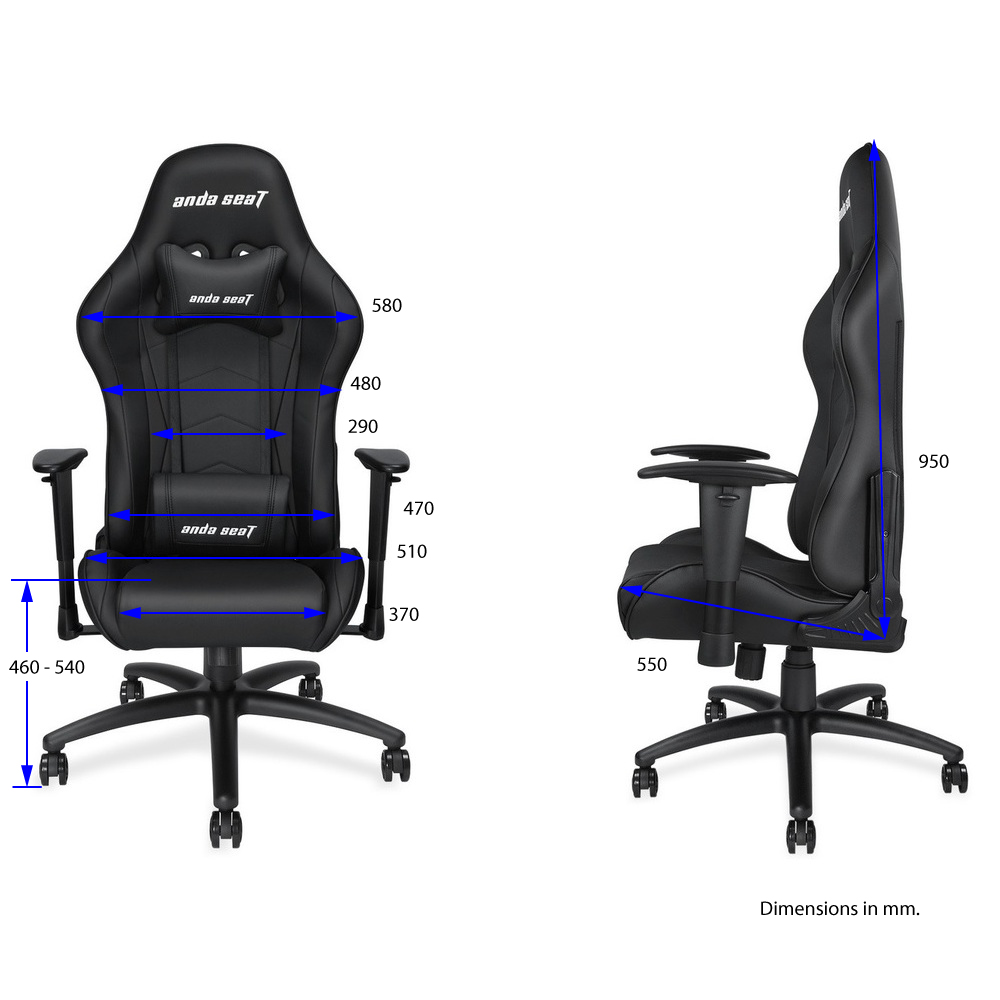 First slide photo of ANDA SEAT Gaming Chair Axe Black