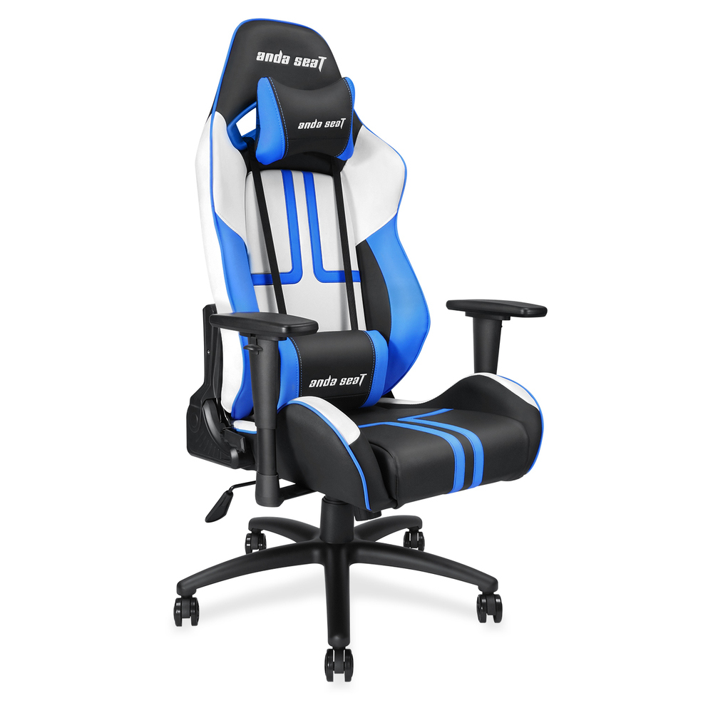 First slide photo of ANDA SEAT Gaming Chair VIPER Black - White - Blue