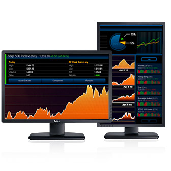 Left side photo of DELL Monitor U2412M 24'' Ultrasharp, IPS, DVI, DisplayPort, Height Adjustable, 3YearsW